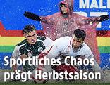 Zweikampf im Regen