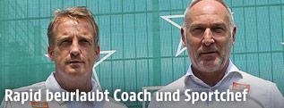 Rapid-Trainer Mike Büskens und Direktor Andreas Müller