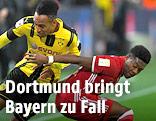Pierre-Emerick Aubameyang (Dortmund) und David Alaba (Bayern)