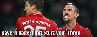 Thomas Müller und Franck Ribery (Bayern)