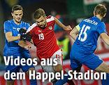 Szena aus dem Testspiel Österreich - Slowakei