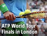 Tennisschläger und Tennisbälle