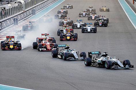 Starterfeld beim GP von Abu Dhabi