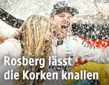 Jubelfeier von Nico Rosberg
