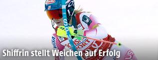 Mikaela Shiffrin während des Slaloms in Killington