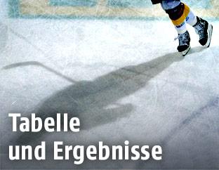 Silhoutte eines Eishockeyspielers