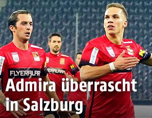 Jubel von Christoph Monschein (FC Admira Wacker Mödling)