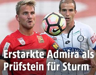 Szene aus dem Match Admira gegen Sturm