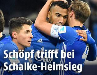 Jubel von Schalker Spielern