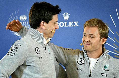 Toto Wolff und Nico Rosberg