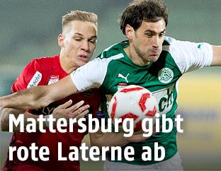 Christoph Monschein (Admira) und Nedejko Malic (Mattersburg)