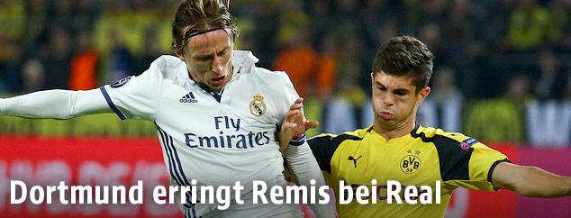 Luka Modric (Real Madrid) und Christian Pulisic (Dortmund)