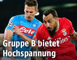 Zweikampf aus dem Match Benfica gegen Napoli