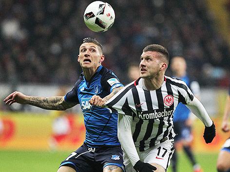 Zweikampf bei Frankfurt gegen Hoffenheim
