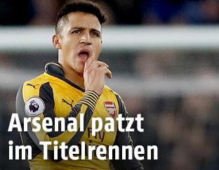 Enttäuschter Alexis Sanchez (Arsenal)