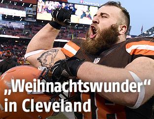 Jamie Meder (Cleveland Browns) jubelt