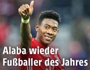 Lachender David Alaba (Bayern München)