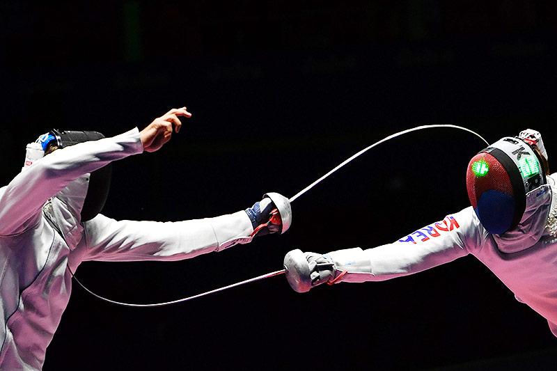 Park Sangyoung und Benjamin Steffen