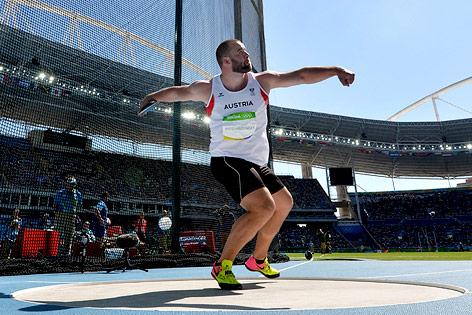 Lukas Weißhaidinger (AUT) bei den Olympischen Spielen in Rio de Janeiro