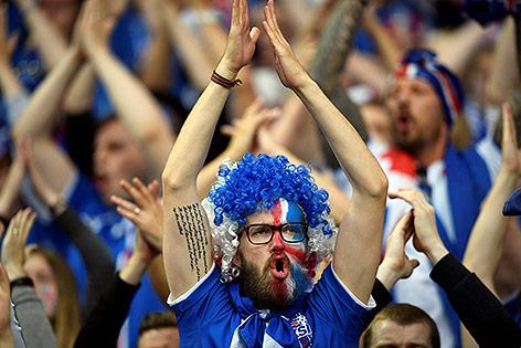 Isländischer Fan bei der Euro