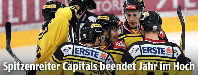 Capitals-Spieler jubeln