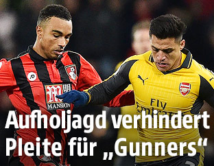 Junior Stanislas (Bournemouth) und Alexis Sanchez (Arsenal)