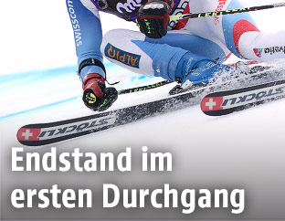 Weltcup-Läufer in Adelboden