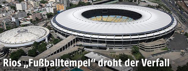 Das Maracana-Stadion in Rio aus der Vogelperspektive