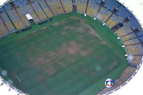 Rasen im Maracana-Stadion in Rio