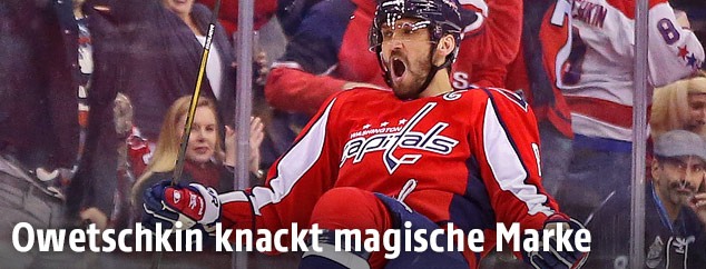 Jubel von Alexander Owetschkin (Washington Capitals)