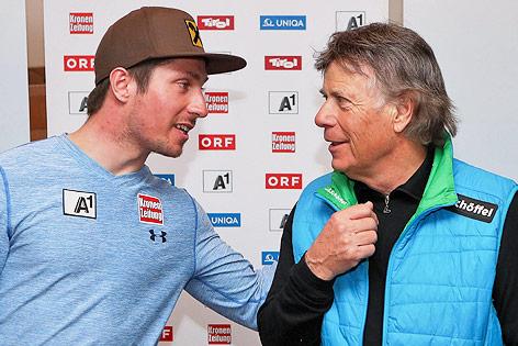ÖSV-Präsident Peter Schröcksnadel mit Marcel Hirscher
