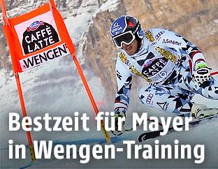 Matthias Mayer beim zweiten Wengen-Training