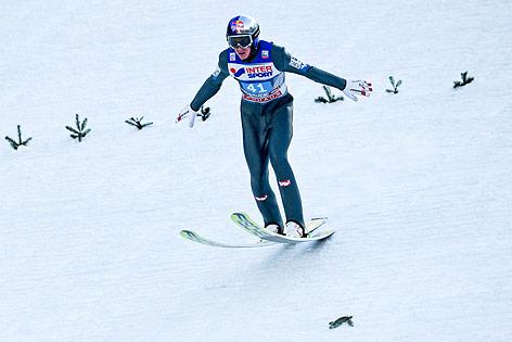 Sprung von Gregor Schlierenzauer in Innsbruck im Jänner 2016