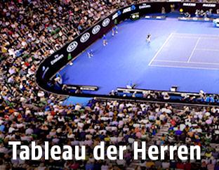 Übersicht der Tennisarena von Melbourne
