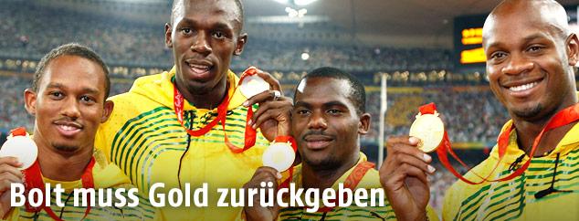 Usain Bolt und Nesta Carter