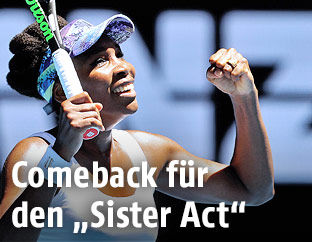 Jubel von Venus Williams (USA)