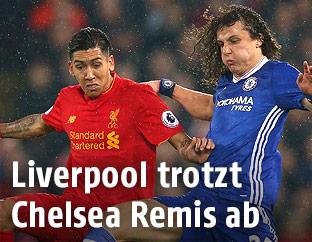 Roberto Firmino (Liverpool) und David Luiz (Chelsea)