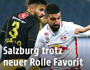 Szene aus dem Match Salzburg gegen Altach
