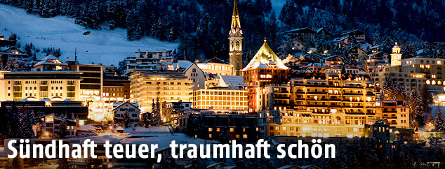 St. Moritz nach Sonnenuntergang