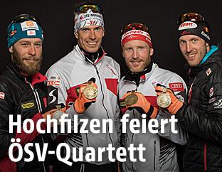 Daniel Mesotitsch, Julian Eberhard, Simon Eder und Dominik Landertinger