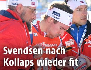 Emil Hegle Svendsen wird verarztet
