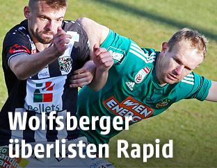 Philipp Prosenik (WAC) und Mario Sonnleitner (Rapid)