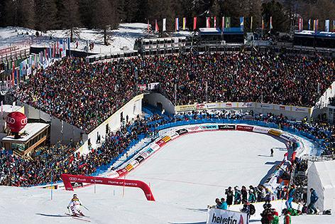 Zielhang der SKI-WM in St. Moritz