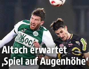 Florian Templ (Mattersburg) and Boris Prokopic (Altach)