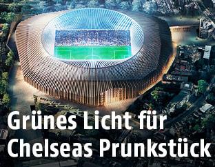 Rendering von Chelseas neuem Stadion