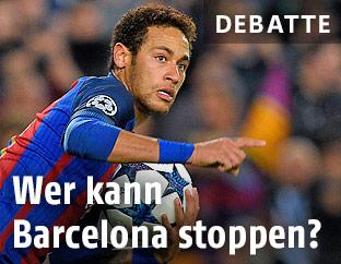 Jubel von Barcelona-Spieler Neymar