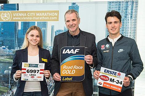 Lena Millonig, Wolfgang Konrad mit IAAF Gold Label, Valentin Pfeil