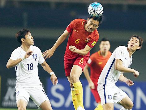 Szene aus dem Match Südkorea gegen China
