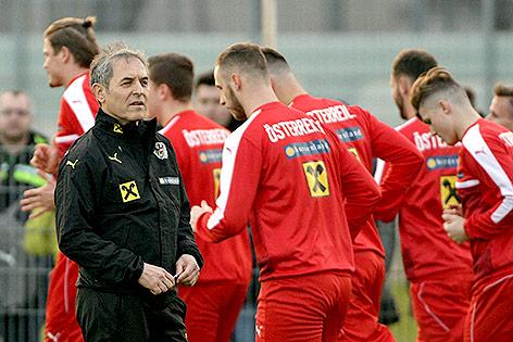 Marcel Koller beim Training des ÖFB