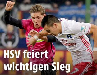 Niklas Stark (Hertha) und Bobby Wood (HSV)